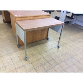 20x37 1/2x27 Small Table on Castors
