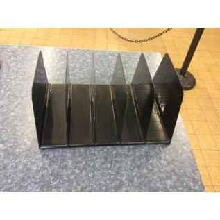 5 Slot Black Plastic File Holder 10/8/18