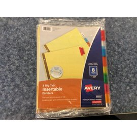 Avery 8 Tab File Dividers