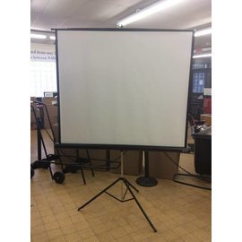 "76"" Projector Screen w/ Stand"