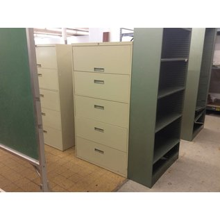 18x36x46 1/2 5 Drawer Lateral File Cabinet
