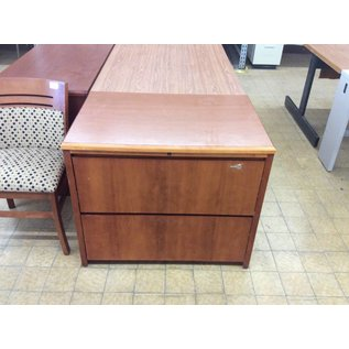 24x36x30 Wood 2 Drawer Lateral File