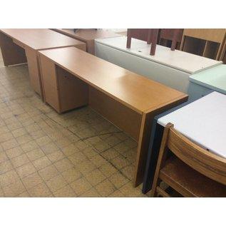 20x72x30 Wood Credenza w/ Left Pedestal
