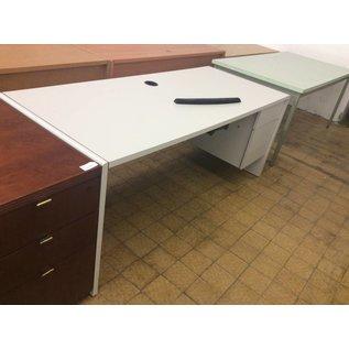 30x72x30 Light Gray Desk w/ Right Pedestal
