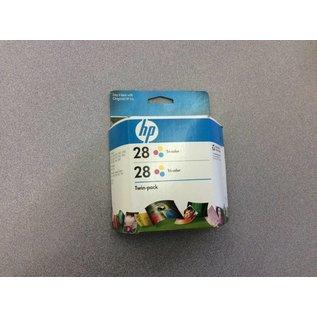 HP 28 Printer Ink tri-color (twin pack)