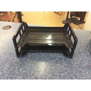 2 Tier Black Paper Tray 10/8/18