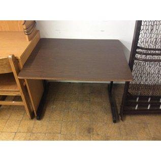29 1/2x35 1/2x 26 1/2 Woodtop metal Frame Table
