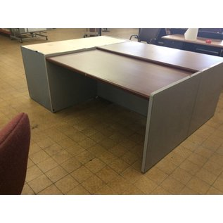 30x60x30 Light Gray Metal Frame Table