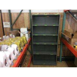 """12x36x75"""" Gray metal utility shelf"""