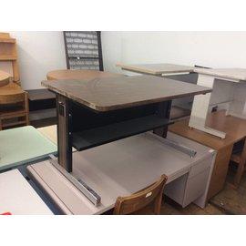 28x48x26 3/4 Wood Top Metal Frame Table