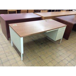 30x66x30 Beige Metal Right Ped Desk