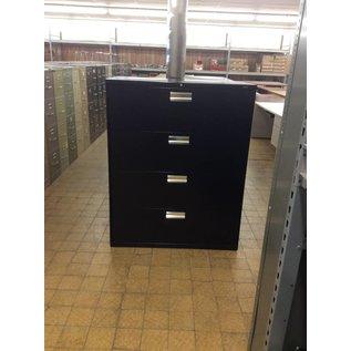 19x42x53 Black Metal 4 Drawer File Cabinet