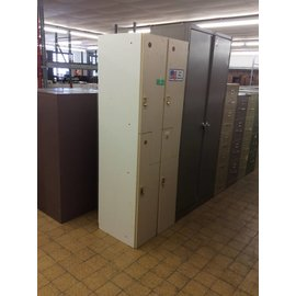 12x20x72 Tan and White Lockers