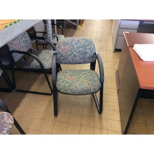 Green Flower Patterned Chair