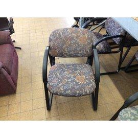 Purple Flower Patterned Chair (6/6/18)