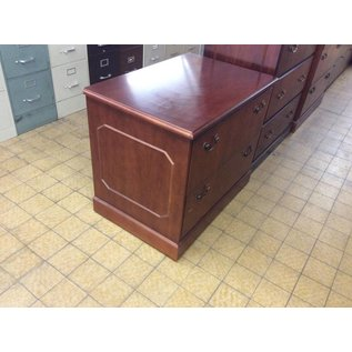 24x36x30 2 Drawer Cherry Wood Lateral File