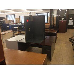 "30x66x30"" Woodtop Right Pedestal Left Return Desk"