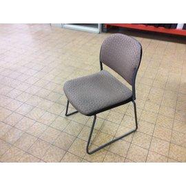 Brown pattern metal frame stacking chair (9/20/19)