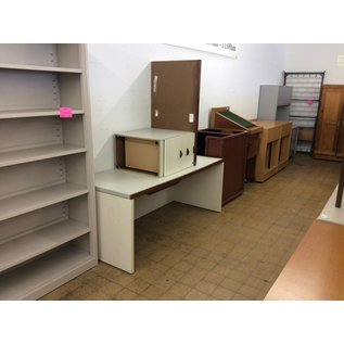 30x70x28 White wood Desk w/ Right Return