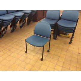 Blue Desk Chair On Castors (4/17/18)