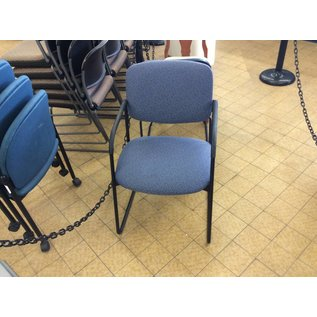 Blue Padded Side Chair w/ Metal Frame (4/23/18)
