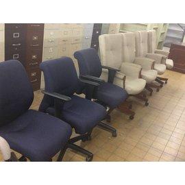 Blue Desk Chair w/ Arms and Castors (4/24/18)