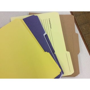 File folders ltr sz 3 colors count of 55
