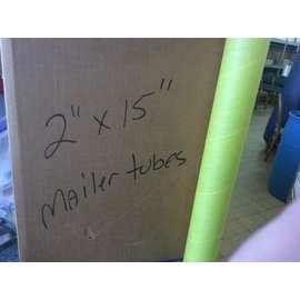 "Mailer Tubes 2x15"" yellow box of 18 (5/14/18)"