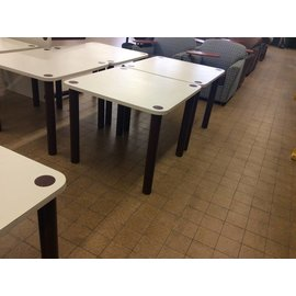 "36x36x29 1/2"" White Top Brown metal leg Table (5/22/18)"