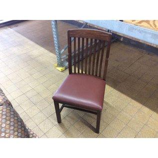 Dark Wood Maroon Padded Chair (5/22/18)