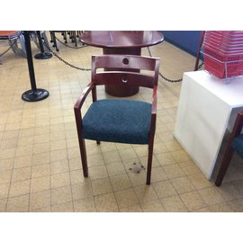 Wood Blue Padded Side Chair (6/20/18)