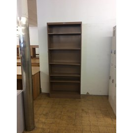 "12 x36x84"" Brown metal  bookcase (7/17/18)"