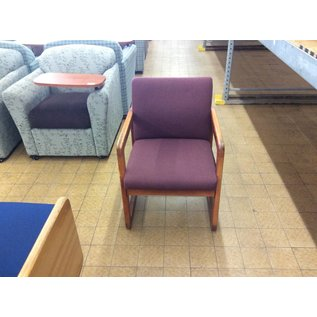 Purple Padded Wood Frame Chair (5/24/18)
