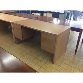 "30x60x29 1/2"" Wood Double Pedestal Desk (6/5/18)"