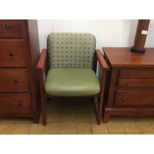 Green Padded Wood Frame Side Chair (6/6/18)
