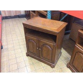 "17x28x31"" Wood TV stand on castors (6/6/18)"