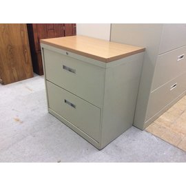 "18x30x30"" Wood Top 2 Drawer Lateral File (6/6/18)"