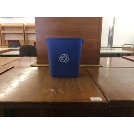 Small Blue Plastic Recycle can (6/6/18)