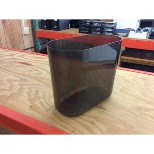 Black plastic trash can (6/6/18)