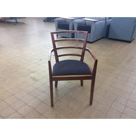 Wood Frame Diamond Patterned Side Chair (6/11/18)