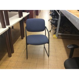 Blue Padded Metal Frame Chair (6/11/18)