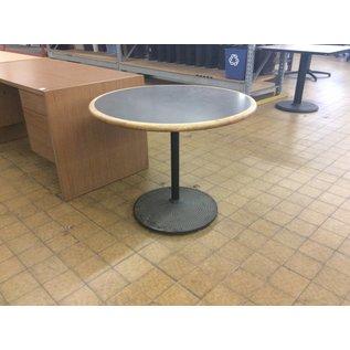 "36x29"" Round Wood Metal Base Table (6/11/18)"