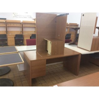 "29x60x30"" Wood Left Pedestal Desk with Right Return (6/11/18)"