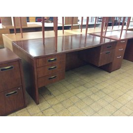 "36x72x30"" Wood Double Pedestal Desk (6/12/18)"