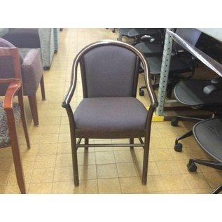Wood Frame Purple Padded Chair (6/12/18)