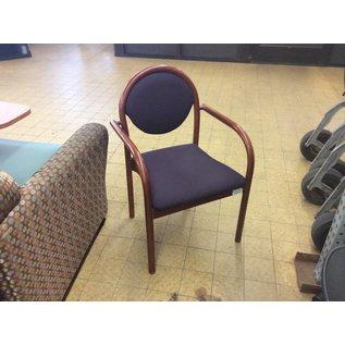 Purple Padded Wood Frame Chair (6/12/18)