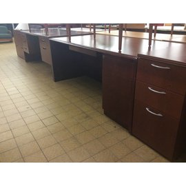 "36x72x29"" Cherry Wood R Pedestal Desk (6/13/18)"