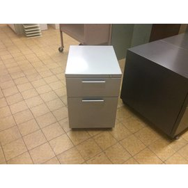 "21x14 1/2x21"" Light Gray 2 Drawer File Cabinet on Castors (6/19/18)"