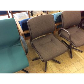 Brown padded side chair (7-25-18)