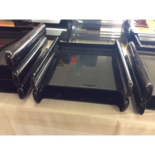 Black plastic 2 tier paper tray (7-25-18)